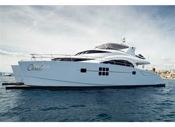 Rent a power catamaran in Marina Mandalina - Sunreef 70 Power
