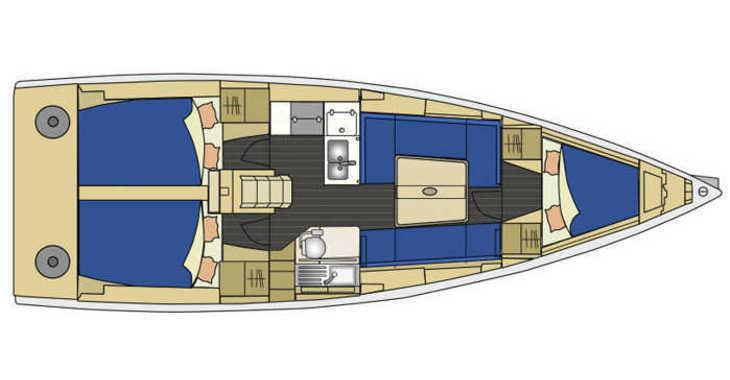 Rent a sailboat in Marina Kornati - Elan 350