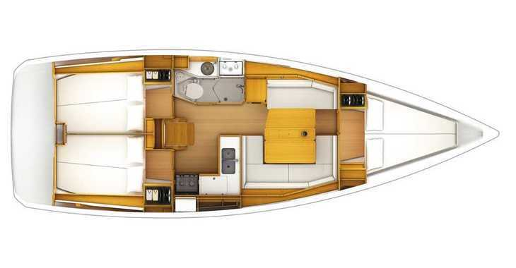 Rent a sailboat Sun Odyssey 389 in Split (ACI Marina), Split city