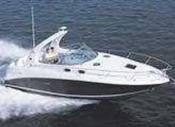 Rent a motorboat Sea Ray 335 Sundancer  in Yacht kikötő - Tribunj, Tribunj