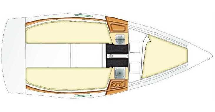 Rent a sailboat in Marina Lucica Špinut - Beneteau First 21.7