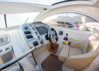Rent a motorboat Monte Carlo 37 in Port Olimpic de Barcelona, Barcelona City