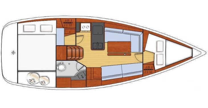 Rent a sailboat Oceanis 31 in Port Olimpic de Barcelona, Barcelona City