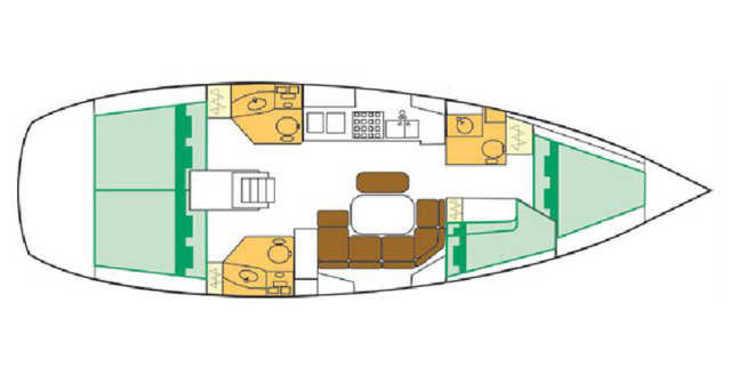 Rent a sailboat in Marina del Sur. Puerto de Las Galletas - Beneteau Clipper 42.3