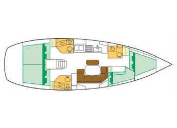 Chartern Sie segelboot Beneteau Clipper 42.3 in Marina del Sur. Puerto de Las Galletas, Las Galletas