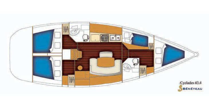 Rent a sailboat in Rogač - Beneteau Cyclades 43.4