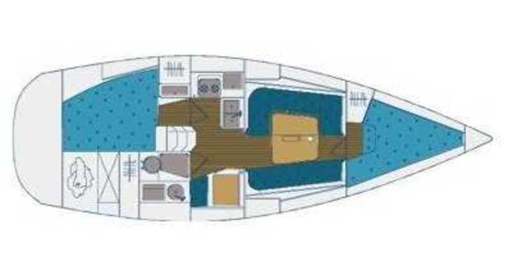 Rent a sailboat in Marina Kornati - Elan 333