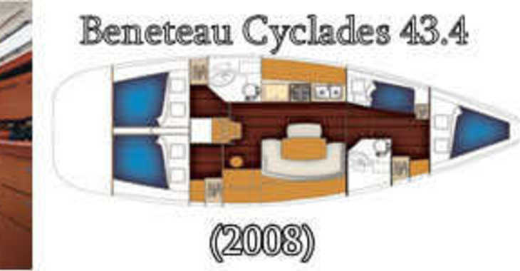 Rent a sailboat in Marina Kornati - Benetau Cyclades 43,4