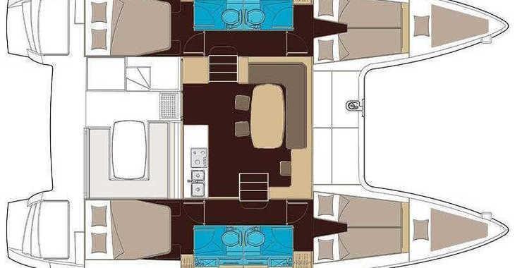 Rent a catamaran in Marina Mandalina - Lagoon 400