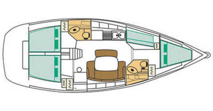 Rent a sailboat Cyclades 43.4 in Muelle de la lonja, Palma de mallorca
