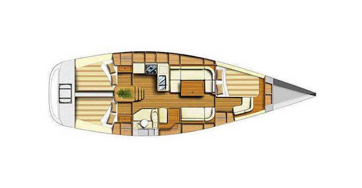 Rent a sailboat in Porto Palermo - Dufour 40 (3Cab)