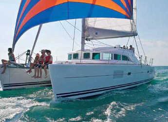 Rent a catamaran in Alimos Marina Kalamaki - Lagoon 380 S2 (4Cab)