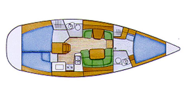 Rent a sailboat in Marina Le Marin - Sun Odyssey 42i