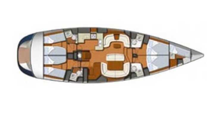 Rent a sailboat in Marina Le Marin - Sun Odyssey 54DS-4