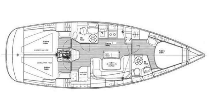 Rent a sailboat in Skiathos  - Bavaria 39 Cruiser