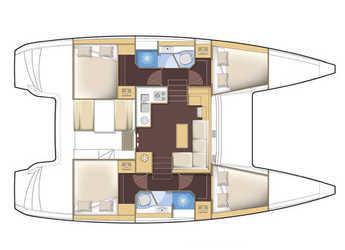 Rent a catamaran Lagoon 39  in Mykonos, Mykonos