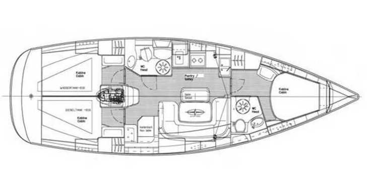 Rent a sailboat in Lefkas Nidri - Bavaria 39 Cruiser
