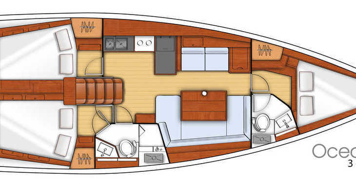 Alquilar velero Oceanis 41.1 en Marina Baotić, Seget Donji