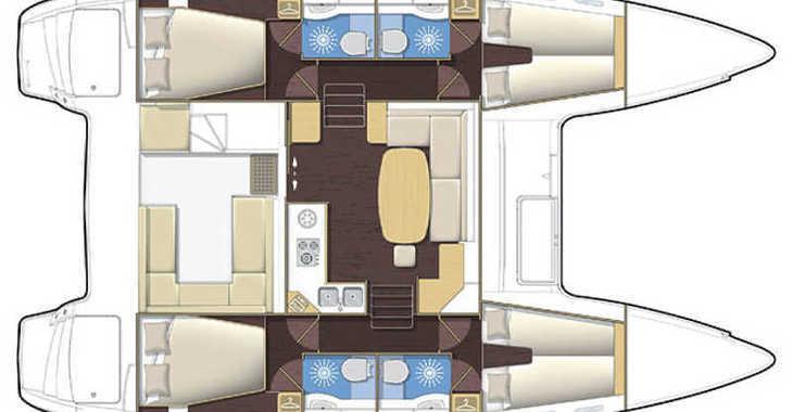 Rent a catamaran in Marina Mandraki - Lagoon 400