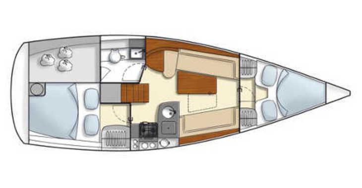 Rent a sailboat in Naviera Balear - Hanse 325
