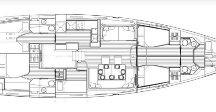 Alquilar velero Jeanneau 64 en Marina Baotić, Seget Donji
