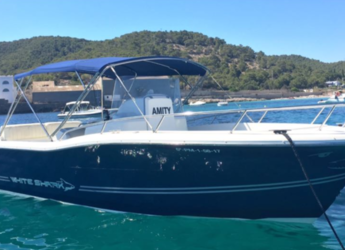 Rent a motorboat in Platja de ses salines - White shark 265