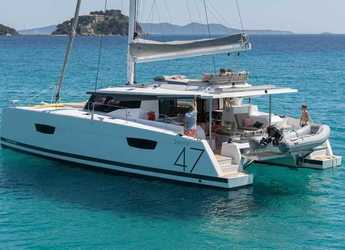 Rent a catamaran in Port Lavrion - Fountaine Pajot 47 SAONA(GEN,AC,WATERMAKER)
