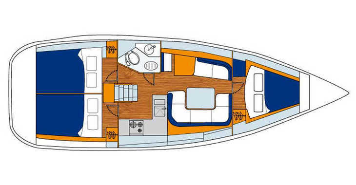 Rent a sailboat in Marina Kremik - Sun Odyssey 36i