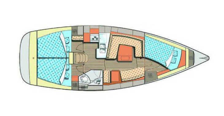 Chartern Sie segelboot in ACI Marina - Elan 384 Impression