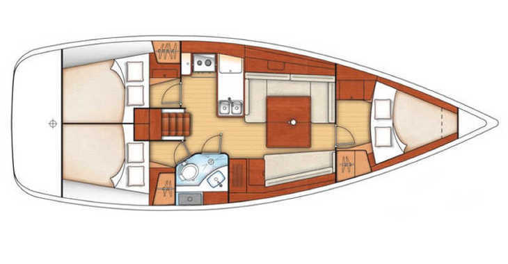 Rent a sailboat in Paros - Oceanis 37