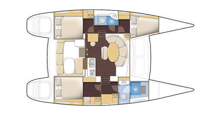 Chartern Sie katamaran in Road Town Marina - Lagoon 380