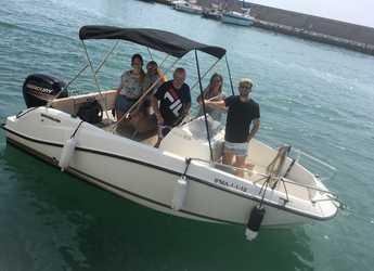 Rent a motorboat Quicksilver activ 505 open in Puerto Benalmádena, Málaga