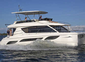 Rent a power catamaran in Nanny Cay - Aquila 484