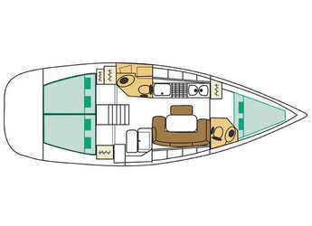 Rent a sailboat Cyclades 39.3 in Port Corbières, Marseille