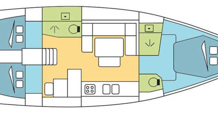 Rent a sailboat in Marina Port Pin Rolland - Dufour 445