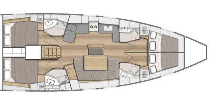 Rent a sailboat in Alimos Marina Kalamaki - Oceanis 46.1