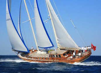Rent a schooner in Bodrum Marina - Gulet Kaya Guneri III