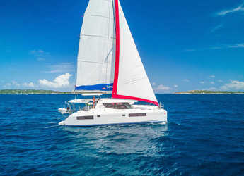 Rent a catamaran in Rodney Bay Marina - Sunsail 454 (Premium)