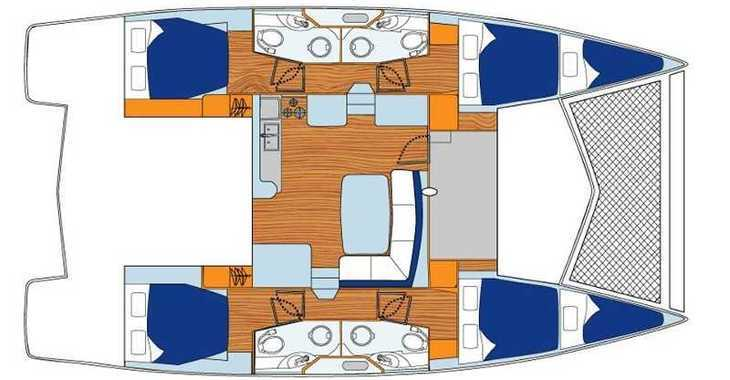 Rent a catamaran in Marina Fort Louis - Sunsail 444 (Classic)