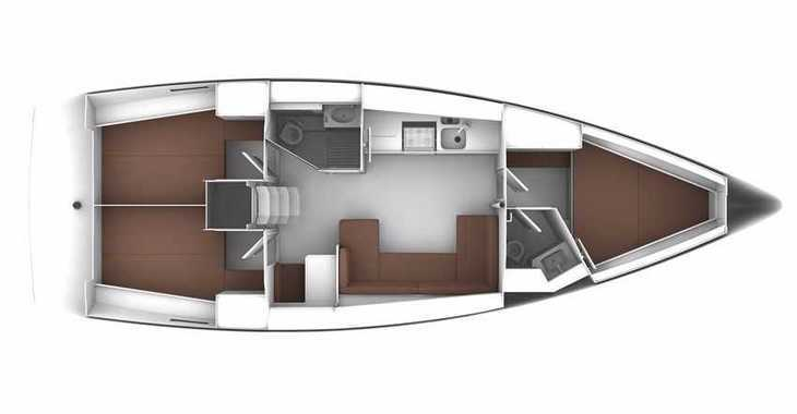 Rent a sailboat in Skiathos  - Bavaria Cruiser 41