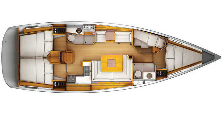 Rent a sailboat in Paros - Sun Odyssey 439