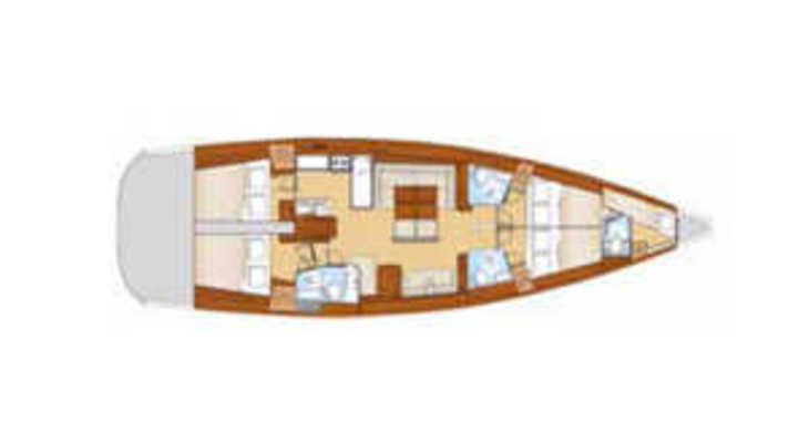 Rent a sailboat in Paroikia - Oceanis 54