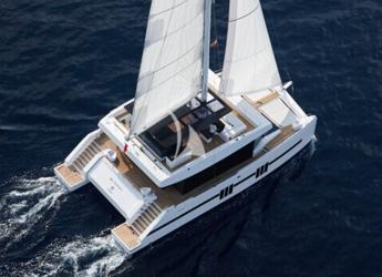 Rent a power catamaran in Marina Ibiza - Sunreef supreme 68