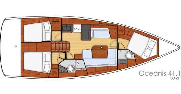 Rent a sailboat in Rogač - Oceanis 41.1