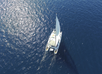 Rent a catamaran in Port Lavrion - Privilege 465 - 4 + 1 cab.