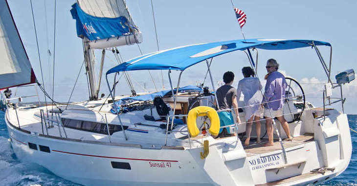 Rent a sailboat in Marina Fort Louis - Sunsail 47/3 (Classic)