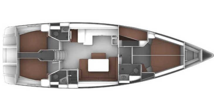 Rent a sailboat in Skiathos  - Bavaria Cruiser 51