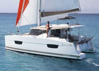 Rent a catamaran in Alimos Marina Kalamaki - Lucia 40