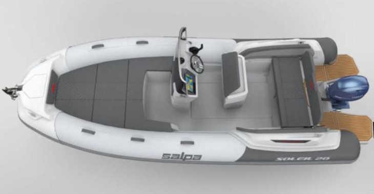 Rent a motorboat in Marina Sukosan (D-Marin Dalmacija) - Salpa Soleil 20