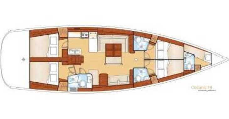 Rent a sailboat in Mykonos - Oceanis 54
